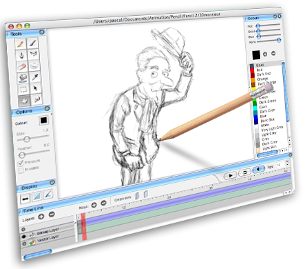hand made 2d drawing animation tool