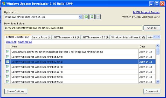 windows updates downloader para windows 7