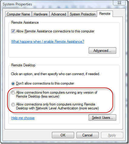 3 ways to enable remote desktop in windows vista and for Window remote desktop