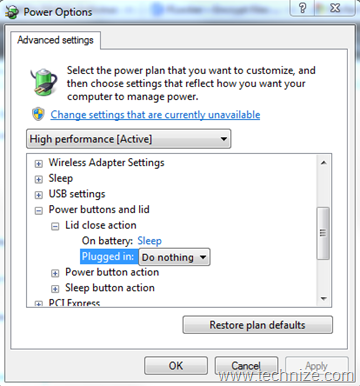 how to prevent laptop to go to sleep when downloading