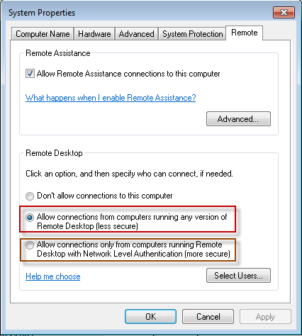 The speed of the connection to a network computer using Remote Web Access determines the desktop options that are available to .