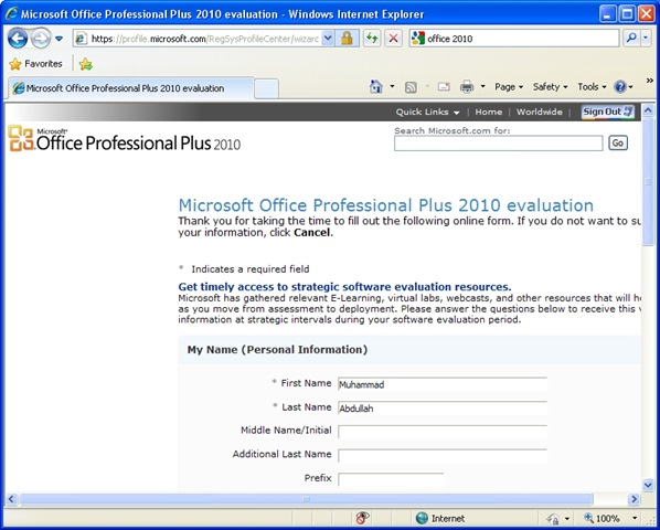microsoft office professional plus 2010 system requirements