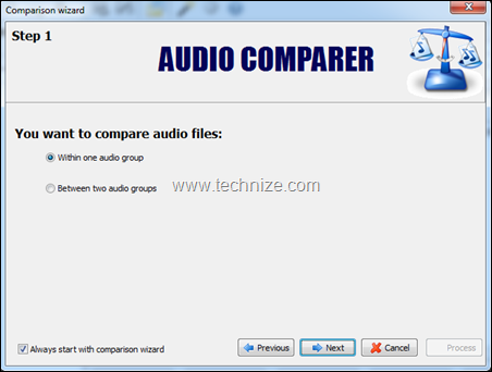 audio comparison wizard