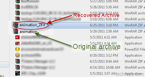 recover damaged archive